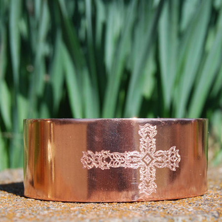 Cherokee Copper Cross Cuff